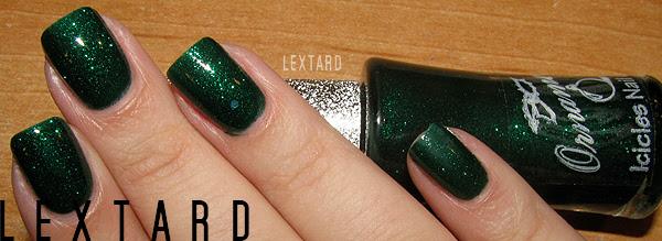 Ornamentos Icicles cor das unhas - Glitter Verde