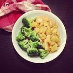 orientalische pastinaken und brokkoli
