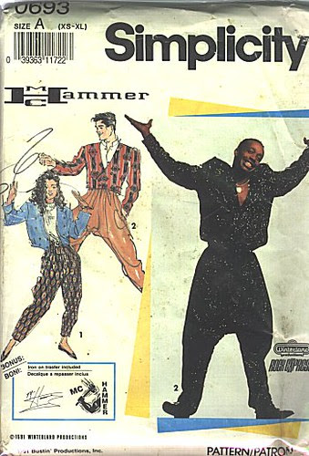 Simplicity MC Hammer Pants Pattern
