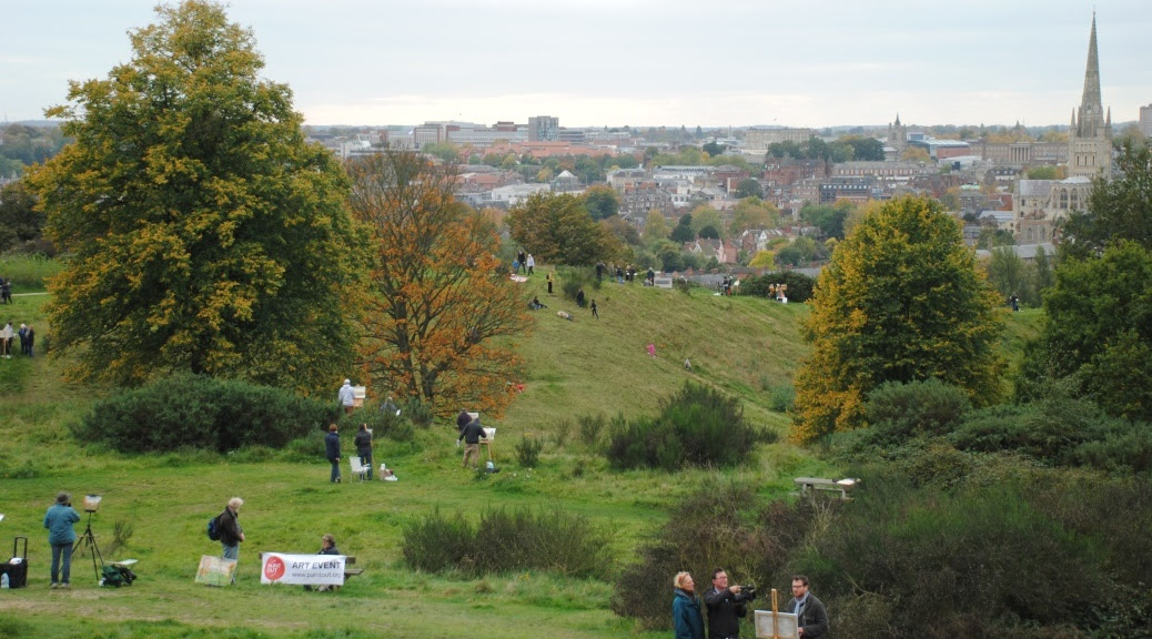 Artists on Mousehold Heath at Paint Out Norwich 2015