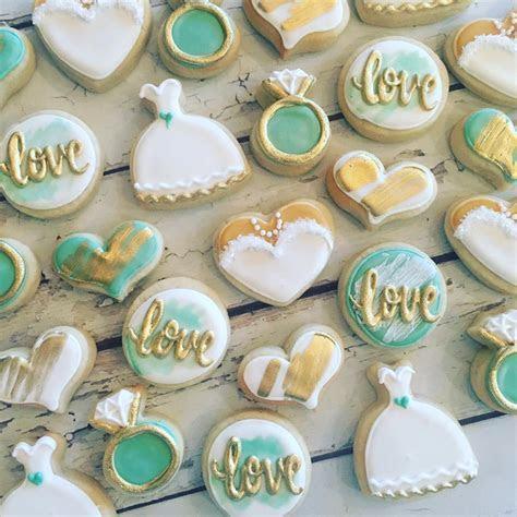 mini Mint wedding cookies   Hayley Cakes and CookiesHayley