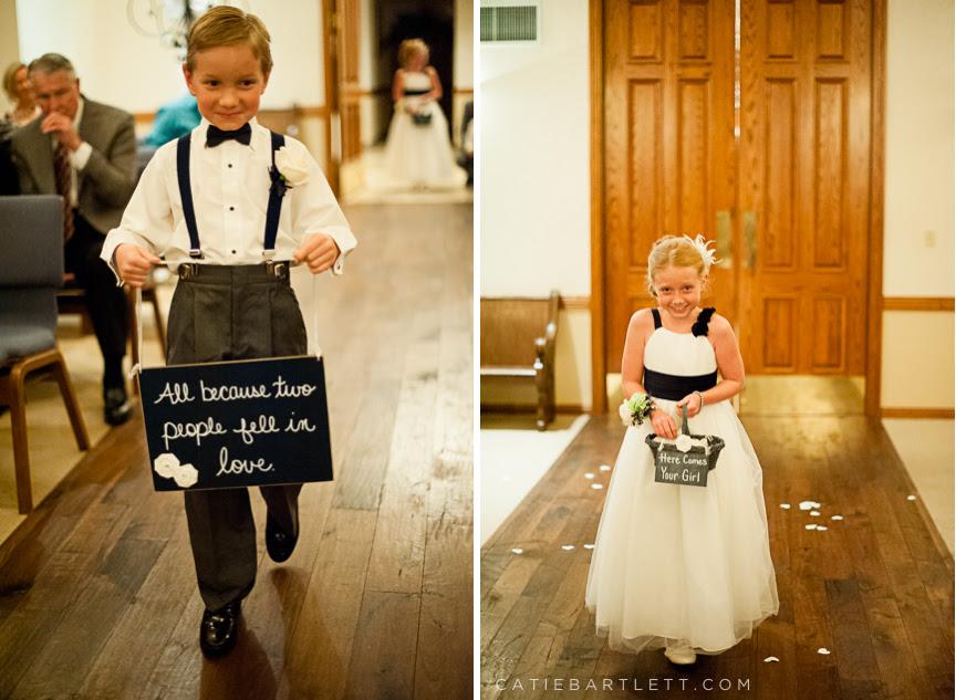 Ring bearer wedding signs