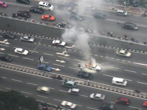 Burning VW @ Jln Tun Razak