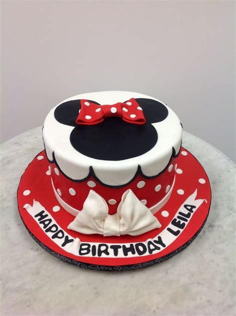 Red and white Minnie Mouse cake   All cakes   Pinterest   Mouse cake, Minnie mouse and Mice