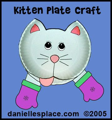 Three Little Kittens Preschool Craft and Matching Game from www.daniellesplace.com