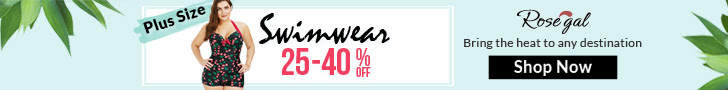 Rosegal Plus Size Swimwear: 25% - 40% OFF + FREE SHIPPING (Ends: 04/28)