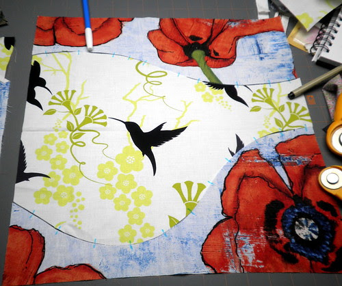 Project QUILTING - Large Scale Print Challenge: Curve Trick