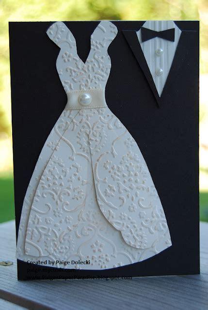 Paige Dolecki   Stampologist: Wedding Dress and Tuxedo Card