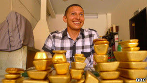 O comerciante colombiano Lucio Ruiz (Foto: João Fellet/BBC Brasil)