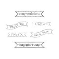 Itty Bitty Banners Clear Stamp Set