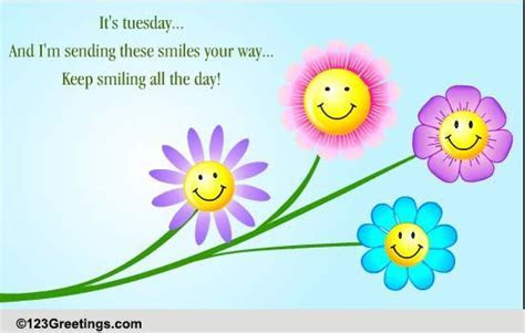 Keep Smiling On Tuesday! Free Tuesday Toons eCards