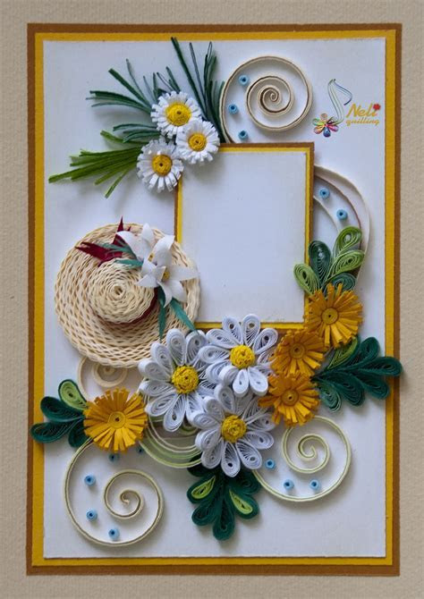 Neli Quilling Art: Quilling card   summer