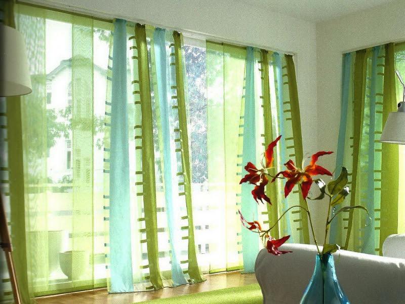 шторы для спальни зеленые фото