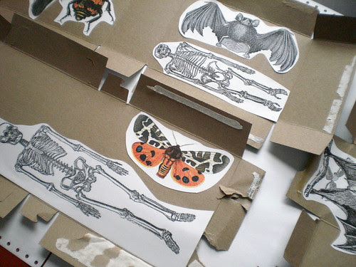 glue images to cardboard