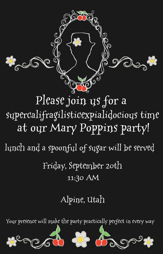 Mary Poppins Invitation - Design Dazzle