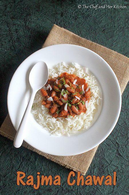 THE CHEF and HER KITCHEN: Rajma Chawal Recipe   Punjabi ...