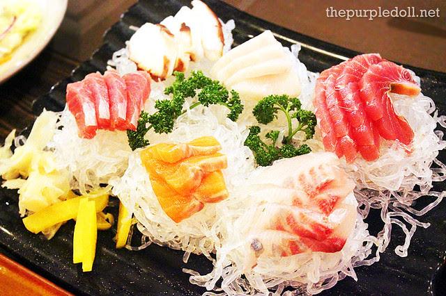 Sashimi Platter Tuna, Salmon, Octopus, Lapu-Lapu, Cuttlefish