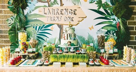 Jungle Themed First Birthday   Pretty My Party   Party Ideas