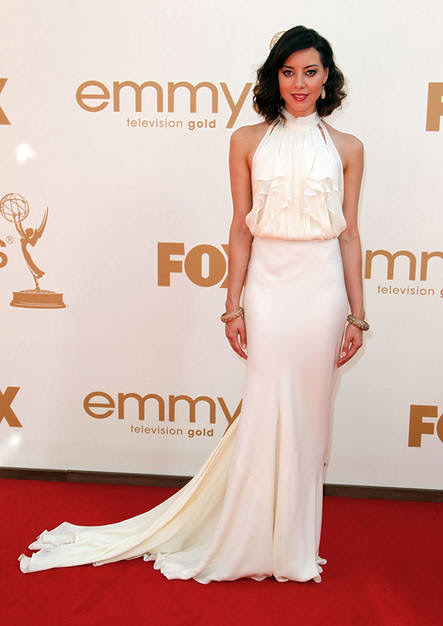 Actress Aubrey Plaza arrives to the 63rd Primetime Emmy Awards