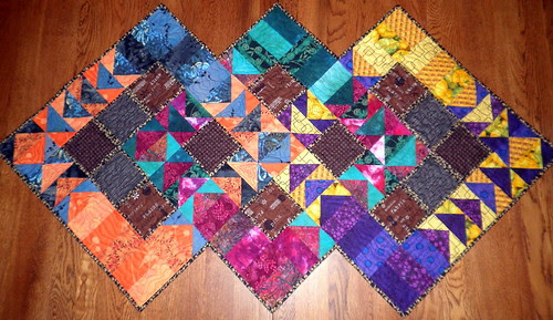 Project QUILTING - Flying Geese Challenge Entry - Three Geese