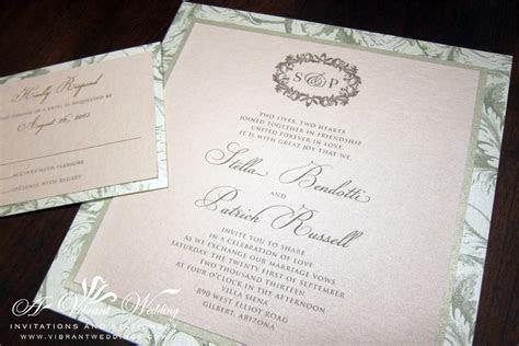 blush and champagne wedding invitation ? A Vibrant Wedding