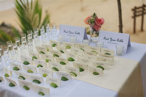 Optional tequila shot & limes as a seating chart ! Las