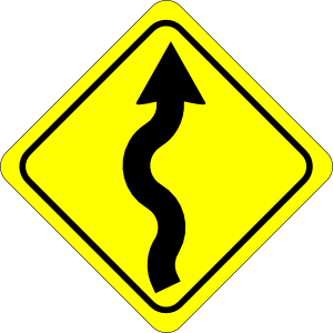 Curvy Road Ahead Sign clip art