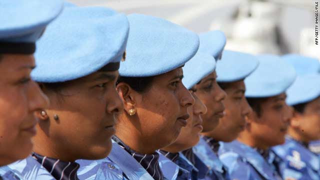 Female peacekeepers in Liberia