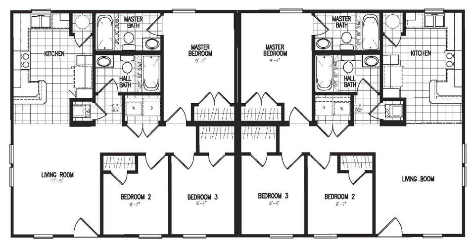 Manufactured Duplex Floor Plans House Plan