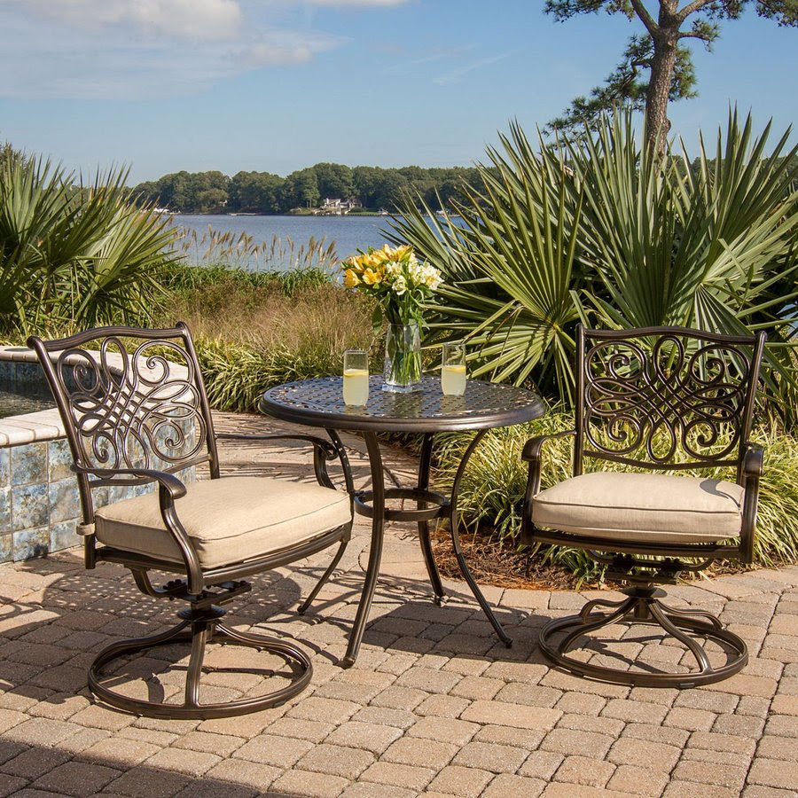 Shop Hanover Outdoor Furniture Traditions 3-Piece Bronze ...