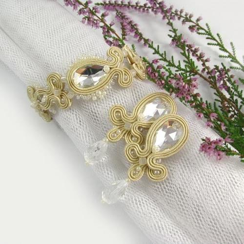 Biżuteria ślubna sutasz ecru