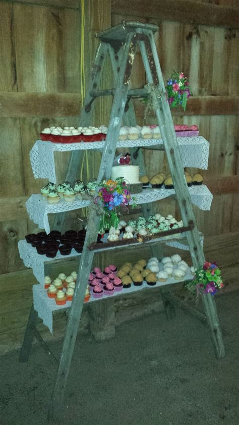 Cupcake ladder   Wedding Decorating Ideas   Ladder wedding