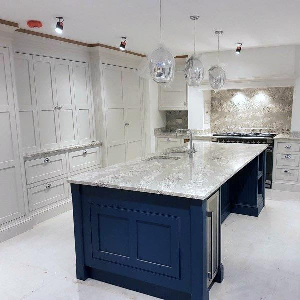 Home Architec Ideas Navy Blue And White Kitchen Ideas