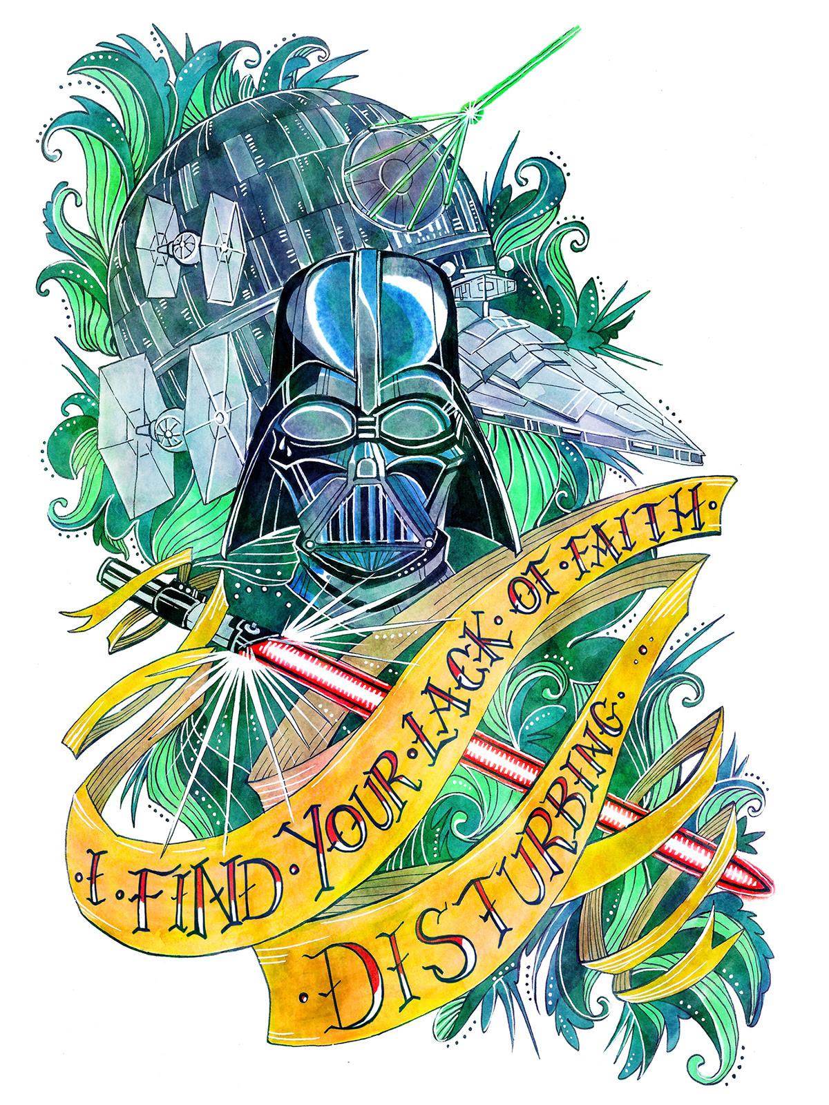 Darth Vader bySara Baldwin