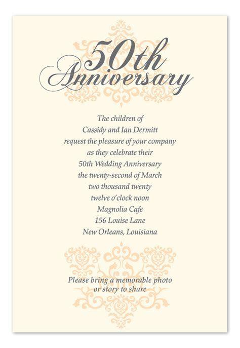 Elegant Anniversary Cream   Anniversary Invitations by