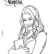 Coloriages Violetta Et Son Journal Intime Frhellokidscom