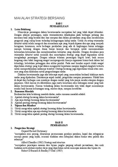 (DOC) MAKALAH STRATEGI BERSAING | Rafa Rafa - Academia.edu