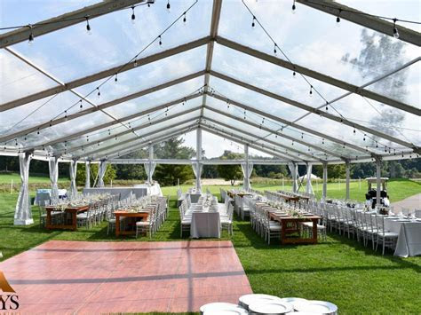 Clear Top Wedding   Aays Event Rentals