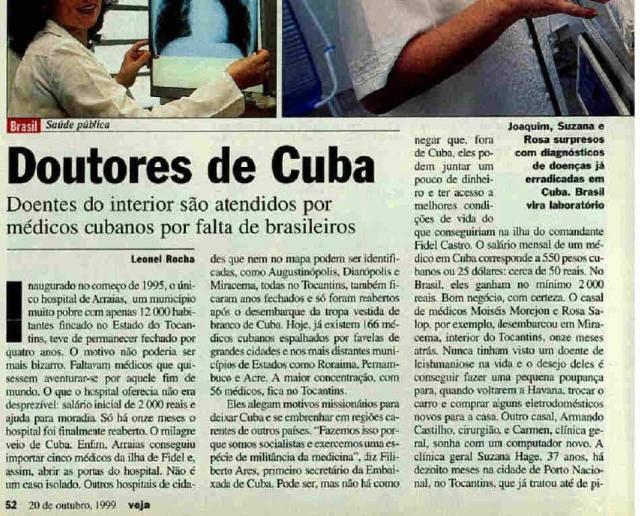 VEJA 1999 APOIA CUBANOS