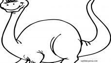 Dinozor Boyama Sayfası