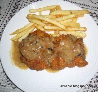 tentang  resepi chicken chop sos cendawan