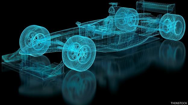 Auto de carreras en ilustración