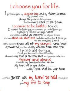 """This made me cry! I LOVE these vows!   When I say """"I Do"""