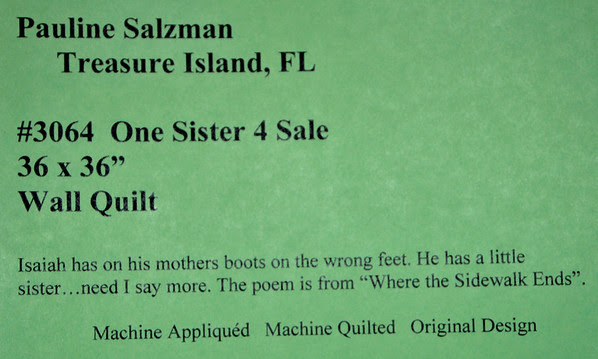 One Sister 4 Sale by Pauline Salzman