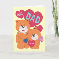 Beary Special Dad card