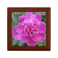Peony Pink Bloom Keepsake Boxes
