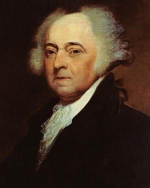 President of the Senate John Adams