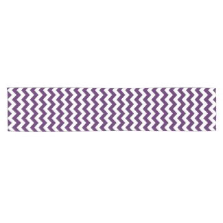 Purple and White Zigzag Table Runner Short Table Runner