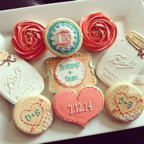 2 Dozen Vintage Country Chic Bridal Shower Cookies In