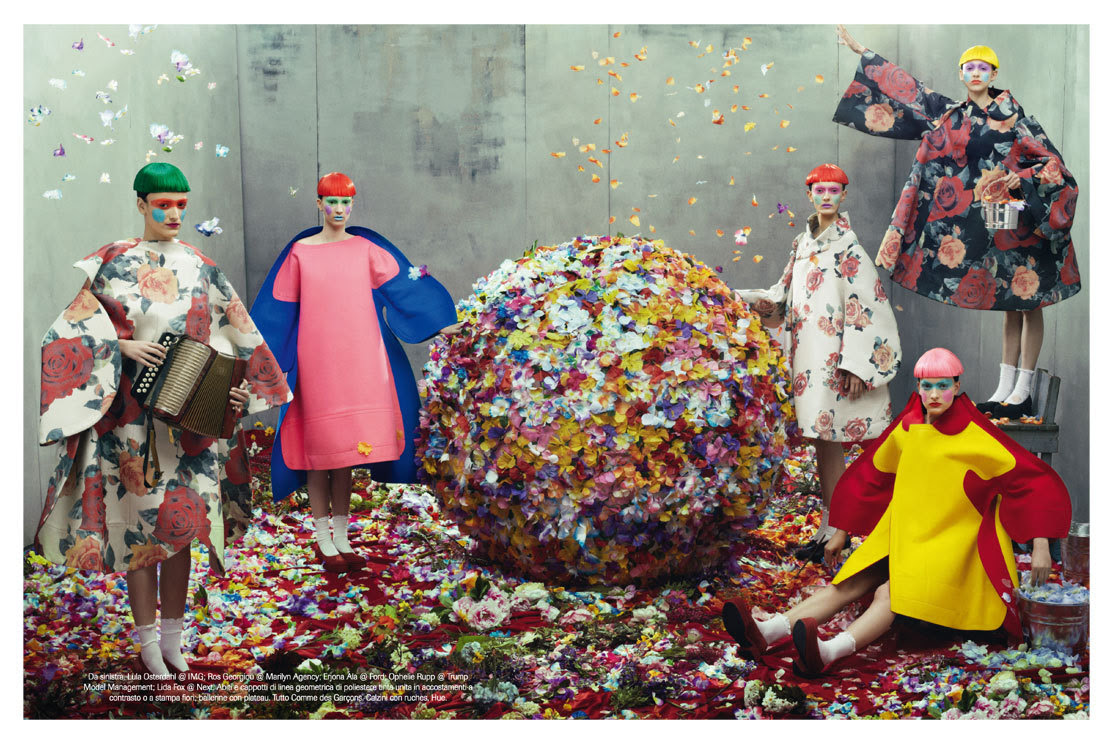 Vogue Italia Julho 2012 - Coleções Fotógrafo: Steven MeiselStylist: Karl Templer
